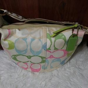 Coach Bags - Coach Hampton Pastel Scribble Hobo Shoulder Bag